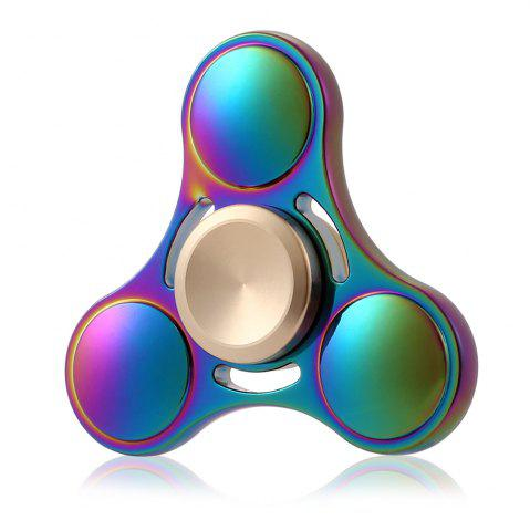 Fancy Round Tri-blade ADHD Titanium Alloy Fidget Spinner Stress Relief Toy Relaxation Gift COLORFUL