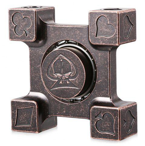 Chic ADHD Brass Fidget Square Hand Spinner Stress Relief Product Adult Fidgeting Toy