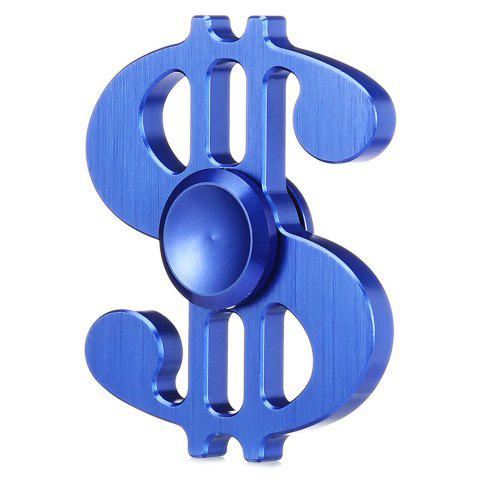 Blue Dollar Style Aluminum Alloy Adhd Fidget Spinner Pressure Reducing Cheap Fidget Toy For ...