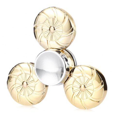Hot Round Wheel Fidget Tri-spinner Pure Brass Material Stress Relief Product Adult Fidgeting Toy GOLDEN