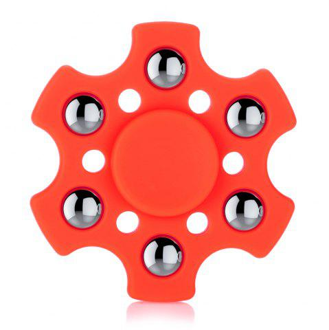Unique Hexagon ABS Fidget Spinner with r188 Bearing Stress Relief Product Adult Fidgeting Toy RED