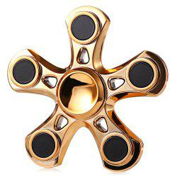 Five-blade Aluminum Alloy Fidget Spinner with Copper Bearing Stress Relief Product Adult Fidgeting Toy - GOLDEN