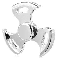 Three-leaf Spinning Blade ADHD Fidget Tri-spinner Zinc Alloy + R188 Stainless Steel Stress Relief Product Adult Fidgeting Toy -
