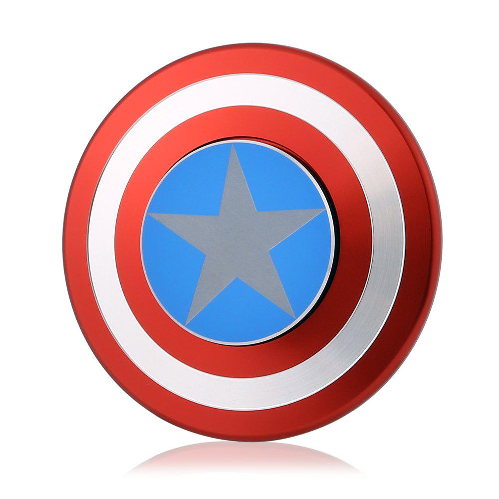 Fashion Circular Aluminum Alloy Fidget Spinner American Style Stress Relief Gift Fidgeting Toy for Anxiety