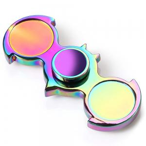 Two-wing Zinc Alloy Fidget Spinner Stress Reliever Toy Relaxation Gift -