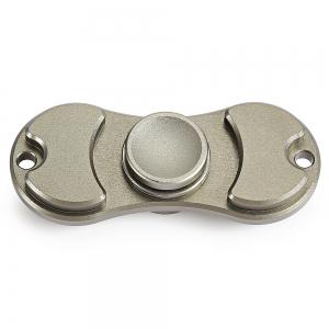 Aluminum Alloy Bearing Gyro Style Stress Reliever Pressure Reducing Toy for Office Worker - SILVER