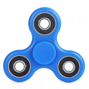 ABS Plastic ADHD Fidget Spinner Stress Reliever Toy Relaxation Gift - Blue - 6*6cm