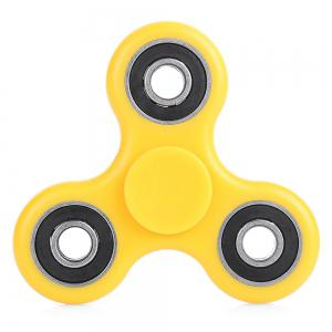 ABS Plastic ADHD Fidget Spinner Stress Reliever Toy Relaxation Gift - Yellow