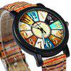 Sonsdo 6838 Retro Quartz Watch with Unique Leather Band for Lady -