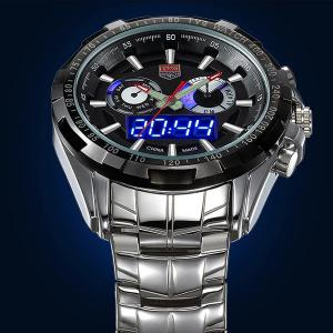 Tvg 579 Luminous LED Military Outdoor Sports Wristwatch Men Multifunction Dual Time Watches -