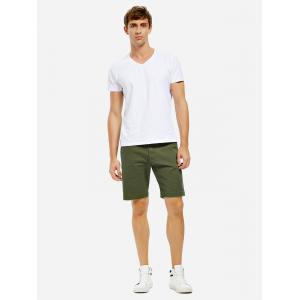 Knee Length Shorts - ARMY GREEN 33