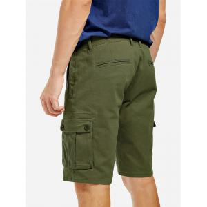Knee Length Cargo Shorts - ARMY GREEN 40