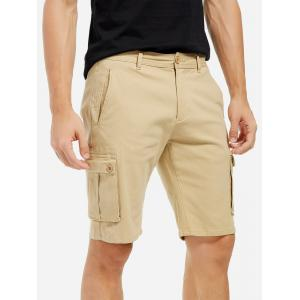 Knee Length Cargo Shorts - KHAKI 35