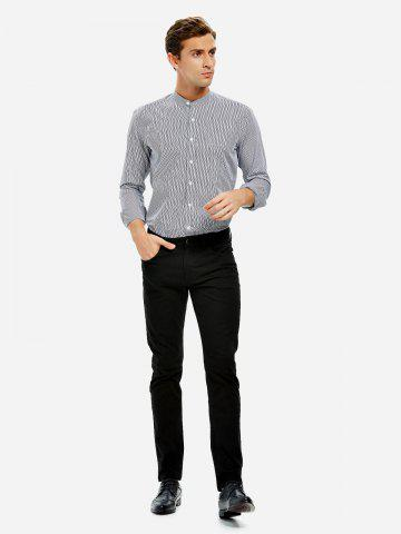 ZAN.STYLE Band Collar Dress Shirt