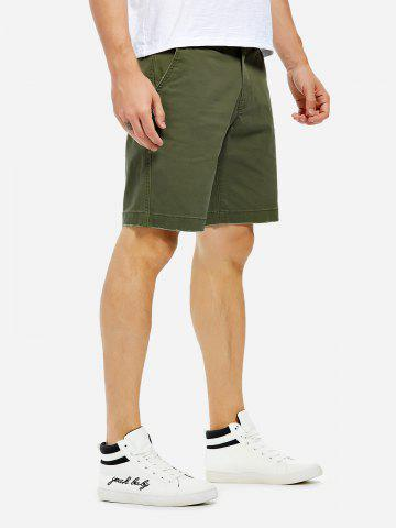 Chic Knee Length Shorts - 35 ARMY GREEN Mobile