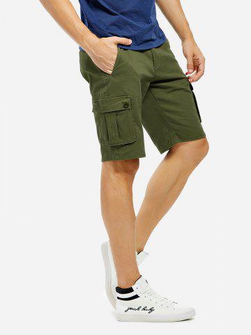 Hot Knee Length Cargo Shorts - 31 ARMY GREEN Mobile