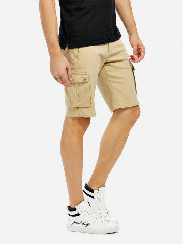 Sale Knee Length Cargo Shorts KHAKI 35