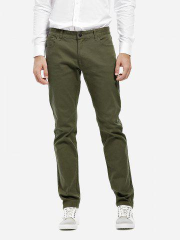 Shops Stretch Knit Slim Fit Pants - 30 ARMY GREEN Mobile