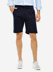Knee Length Shorts - PURPLISH BLUE 30