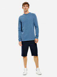 ZAN.STYLE Men Crew Neck Long Sleeve Sweatshirt -