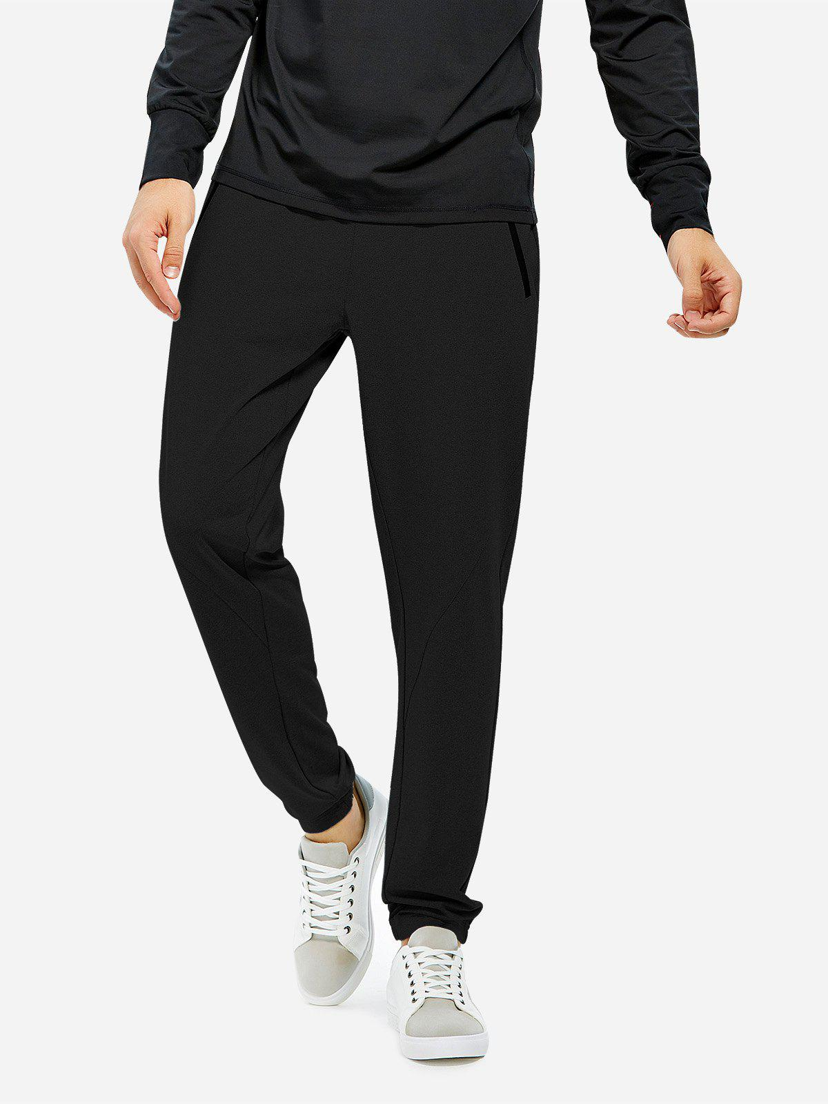 Hot ZAN.STYLE Men Joggers Sweatpants with Zip Pocket