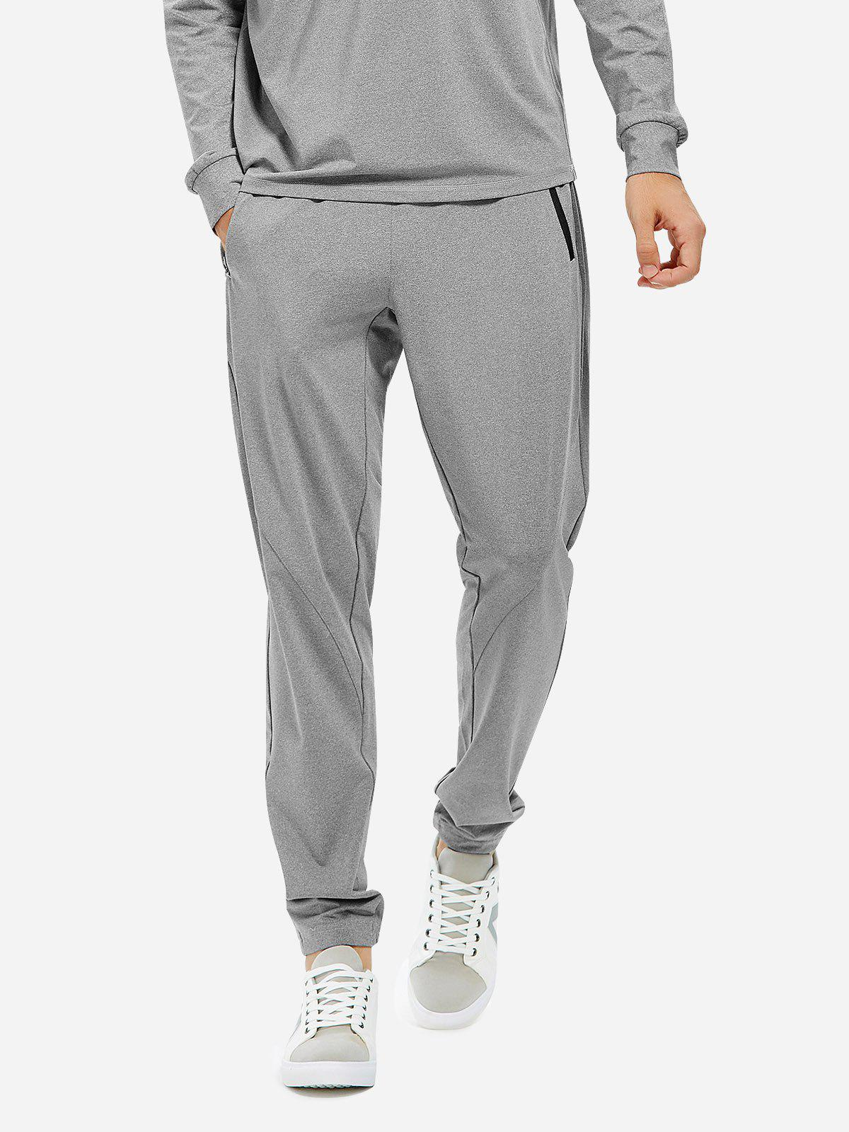 Shops ZAN.STYLE Men Joggers Sweatpants with Zip Pocket