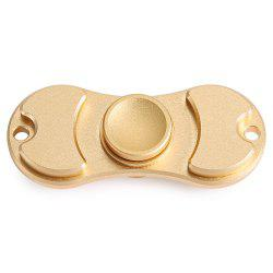 Aluminum Alloy Bearing Gyro Style Stress Reliever Pressure Reducing Toy for Office Worker - CHAMPAGNE