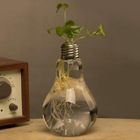 Cheap Creative Bulb Style Hanging Glass Vase Hydroponic Plants Flower Container - TRANSPARENT  Mobile