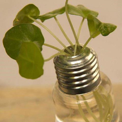 Discount Creative Bulb Style Hanging Glass Vase Hydroponic Plants Flower Container - TRANSPARENT  Mobile