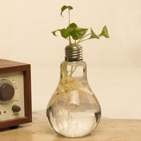 Outfit Creative Bulb Style Hanging Glass Vase Hydroponic Plants Flower Container - TRANSPARENT  Mobile