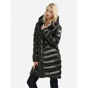 Long Down Jacket - BLACK XL
