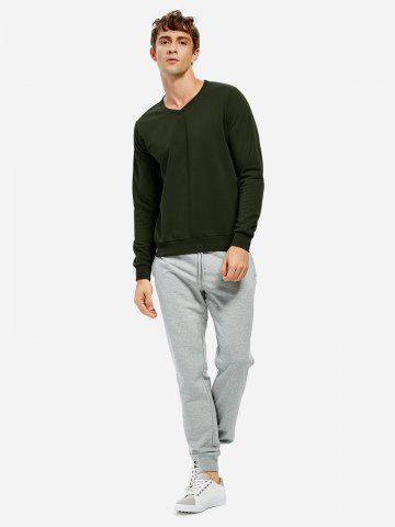 Long Sleeve V Neck Sweatshirt