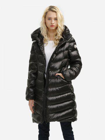 Trendy Long Down Jacket BLACK XL