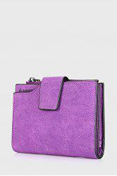 BAELLERRY PU Leather Card Holder Tri-fold Wallet for Women -