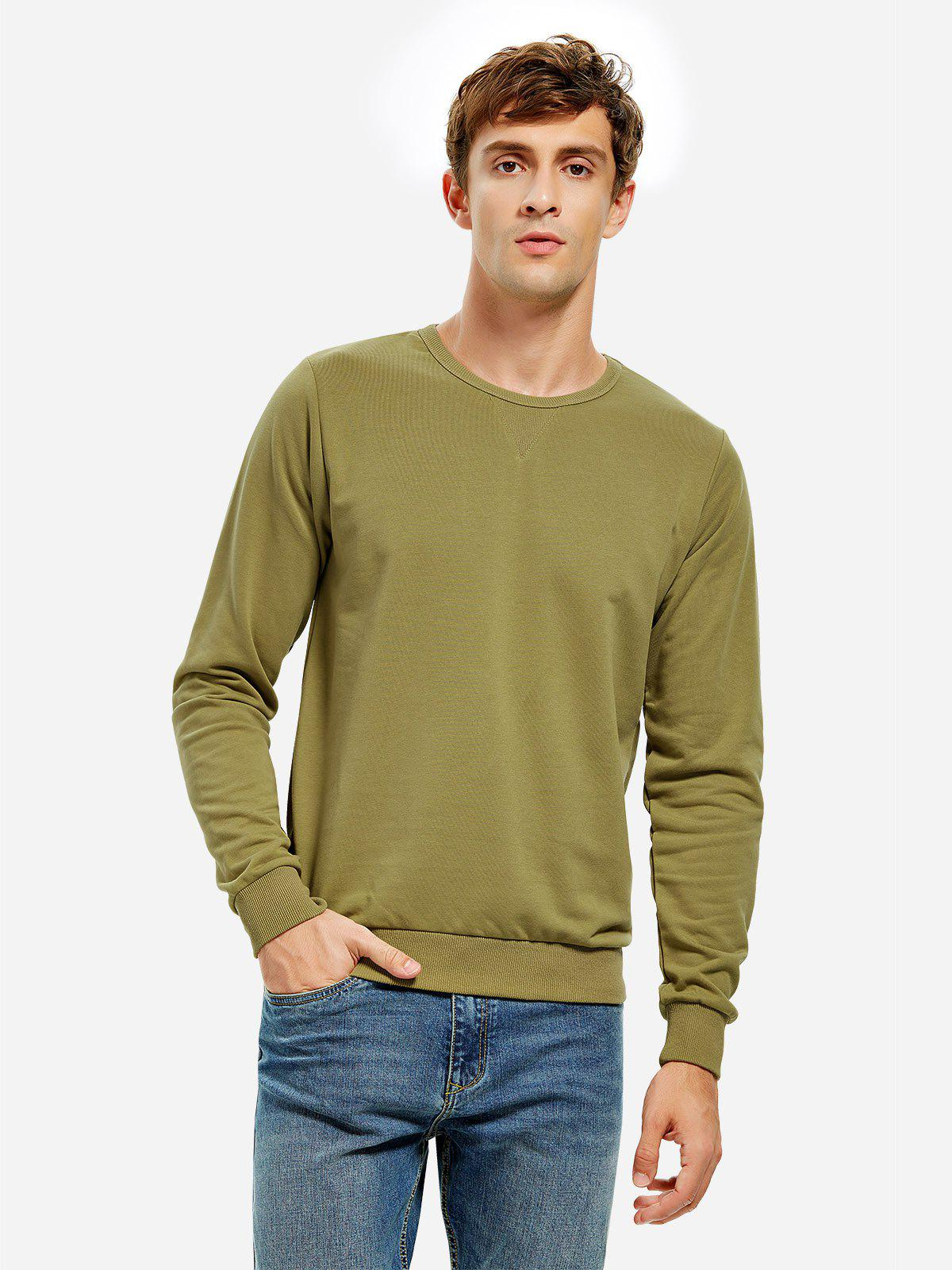 Sweat-Shirt à Col Rond RAL6005 Vert Mousse 3XL
