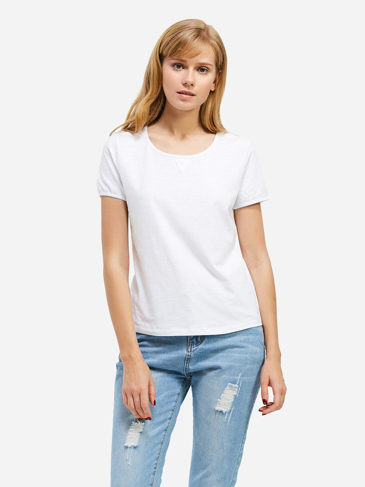 Trendy ZAN.STYLE Crew Neck T-shirt