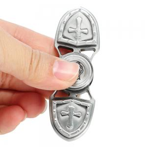 Zinc Alloy Gyro Style Stress Reliever Pressure Reducing Fidget for ADHD for Office Worker - SILVER