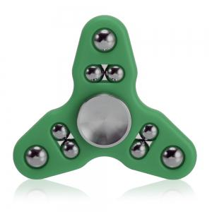 Triangle Gyro Style Stress Reliever Pressure Reducing Toy for Office Worker - GREEN