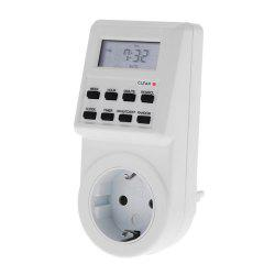 TS-T01 Digital LCD Electronic Timer Switch Socket with Plug-in Programmable Function