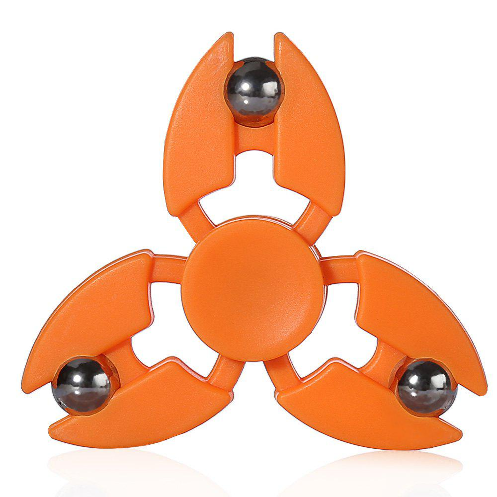 Shop Tri-blade Steel Ball Crab Claws Fidget Spinner EDC ADHD Focus Toy
