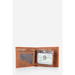 Retro PU Leather Men Wallet with US Dollar Pattern Card Holder -