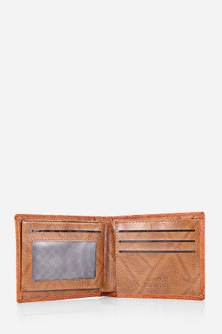 Latest Retro PU Leather Men Wallet with US Dollar Pattern Card Holder - DARK COFFEE  Mobile