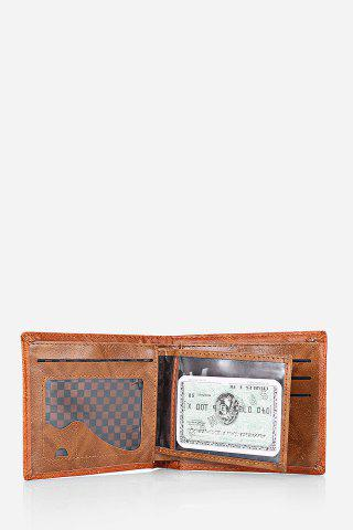 Online Retro PU Leather Men Wallet with US Dollar Pattern Card Holder - DARK COFFEE  Mobile