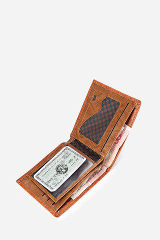 Hot Retro PU Leather Men Wallet with US Dollar Pattern Card Holder - DARK COFFEE  Mobile