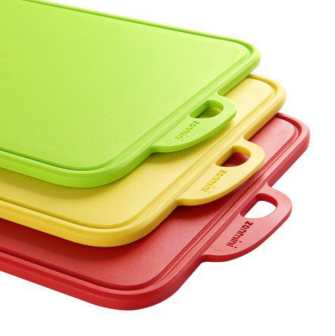 Latest zanmini Color-coded Food Graded PP Cutting Board Set - RED + GREEN + YELLOW  Mobile