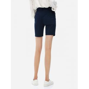Cuffed Shorts - PURPLISH BLUE XL