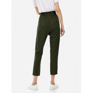 Cropped Pants - OLIVE GREEN 2XL