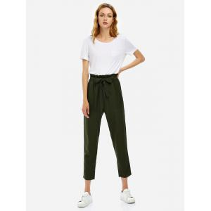 Cropped Pants - OLIVE GREEN S