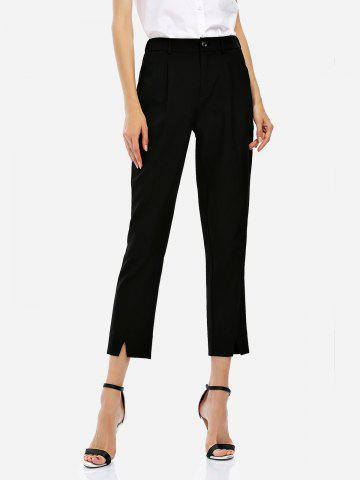Outfits Ankle Length Cropped Pants BLACK S