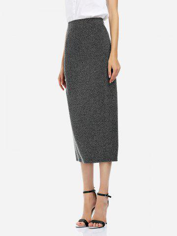 ZAN.STYLE Ankle Length Pencil Skirt - BLACK - M